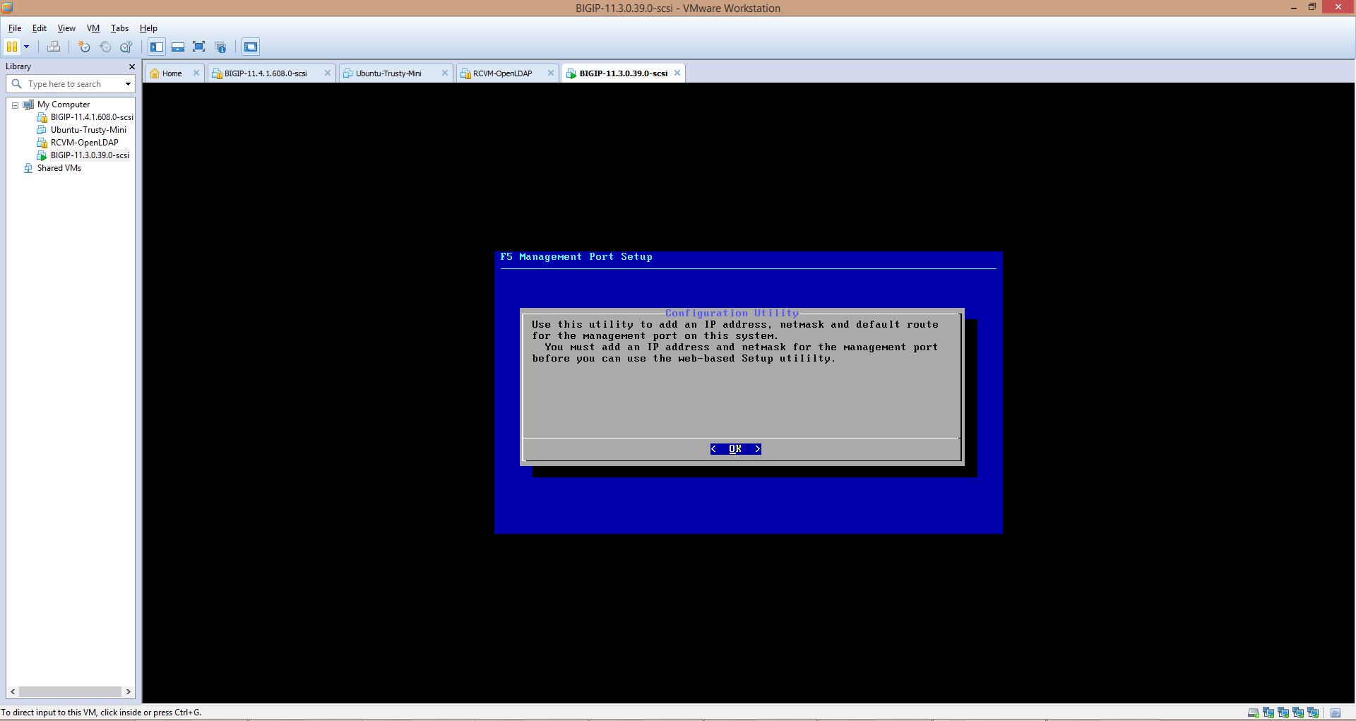 Setting up BIG-IP LTM VE 11 3 0 Trial on VMware workstation | blog